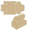 Коробка картонная 155*70*30 мм самосборный, короб из гофрокартона Т22